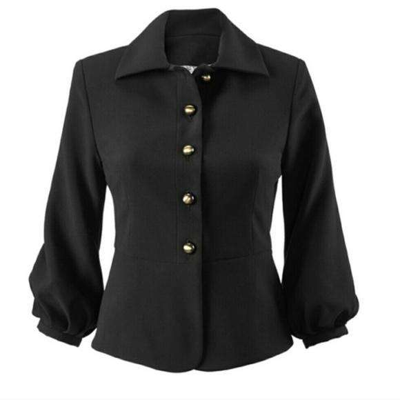 CAbi Jackets & Blazers - CAbi Black Abbott Peplum Jacket Blazer size 4